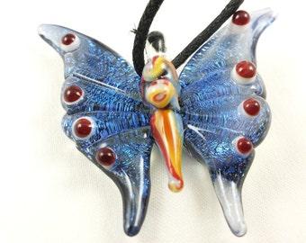 Butterfly - Glass Pendant Necklace