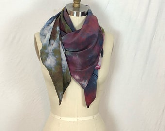 Marble Sunset Ice Dye Tie Dye Square Scarf