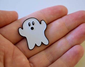 Glow In The Dark Ghost Enamel Pin - Halloween Pin - Gift