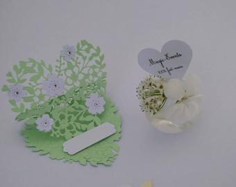 Mark up wedding / baptism lace layered personalize hearts
