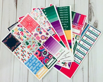 Fiesta - Weekly Planner Sticker Kit - Vertical
