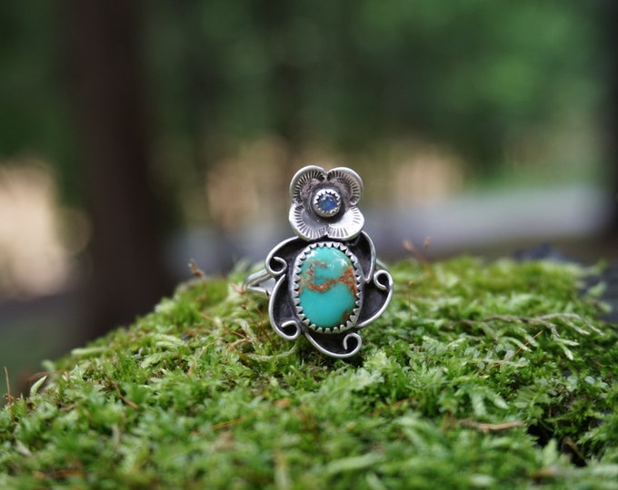 Royston Turquoise Flower Power Ring
