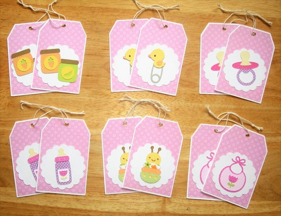 Baby Girl Gift Tags   Baby Shower Girl Gift Tags   Baby Shower Girl Favor  Tags   Party Favor Tags   Cricut Gift Tags   Hang Tags   Set Of 12 From ...
