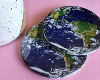 Planet earth coaster set / Drink coasters / Glass coasters / Housewarming gift / Planet coasters / Party Favors