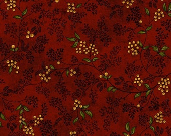 Soldier's Story II by Jodi Barrows for Studio e Fabrics 3376 88, Red Vines with Berries