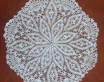Fine crochet doily
