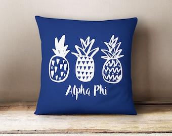 Alpha Phi Pineapple Pillow Choose Your Pillow Color