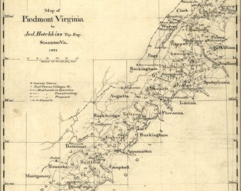 Poster, Many Sizes Available; Map Of Piedmont Virginia 1873