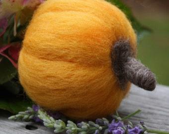 Needle Felted Pumpkin Thanksgiving Pumpkin Gift For Her Table Decor Halloween Pumpkin Miniature Pumpkin Wool Pumpkin