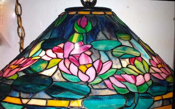 Sorry sold tiffany style water lily stained glass lamp