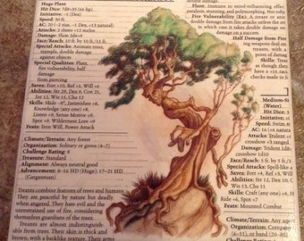 Up-cycled Oversize Treant coaster from Dungeons and Dragons Monster Manual
