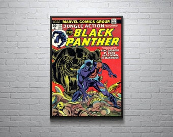Marvel Black Panther Jungle Action Comic Poster
