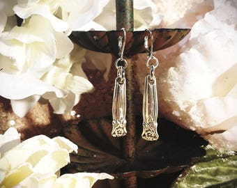 Silver Plated Spoon Earrings