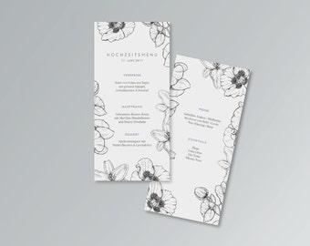 Menu card for weddings | PDF