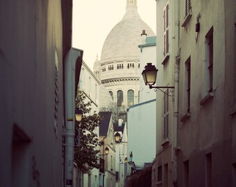 "Paris Architecture Photography, Paris Decor, Print, Sacre Coeur Basilica, Montmartre, Travel Inspiration  ""The Heart of Paris"""