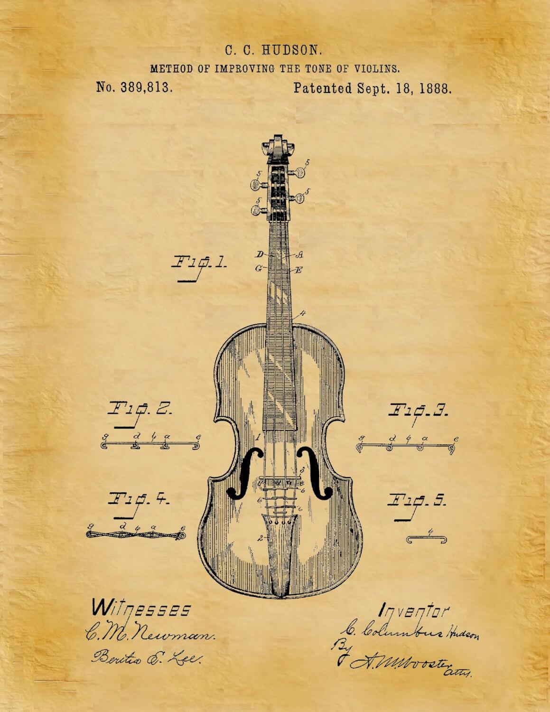 Patent 1888 Violin - Designed by Columbus Hudson - Musical Stringed ...