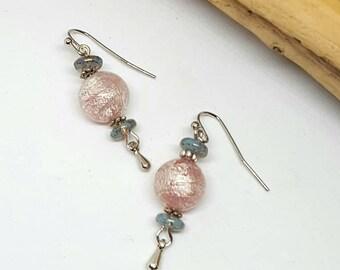 Pink Foil Bohemian Earrings - Pink Earrings - Bohemian Earrings - Gift Ideas