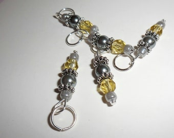 Sophisticated Lemon stitch markers by AnniePurl