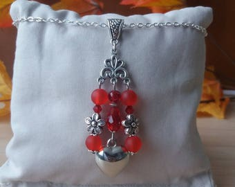 """Red heart"" pendant."