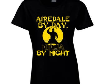 Airedale By Day Ladies Tee Shirt