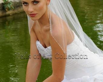 Swarovski Crystals French Soft Tulle Wedding Veil VE313 CUSTOM VEIL