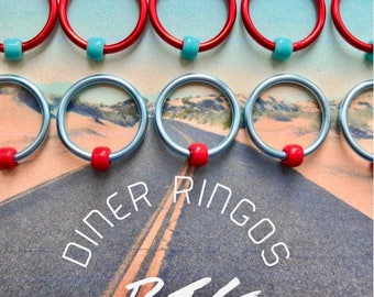 Knitting ringos  stitch markers for big knitting  stitch markers ringos  LARGE O-rings - BIG DINER
