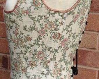 18th Century Corset. Fully Boned Historical Stays.