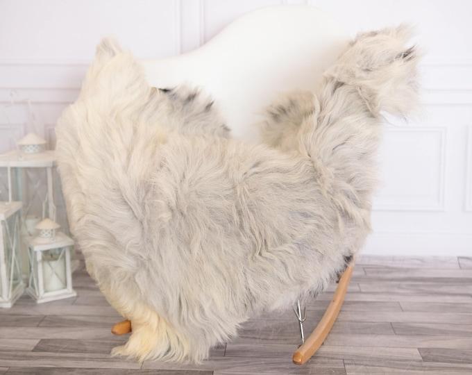 Organic Sheepskin Rug, Real Sheepskin Rug, Gute Sheepskin,Ivory Gray Sheepskin Rug #GUTEFEB11