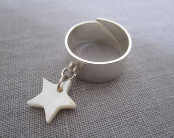 Mother of Pearl star ring