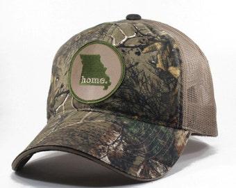 Homeland Tees Missouri Home State Realtree Camo Trucker Hat