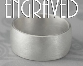 Message Ring~10mm Wide Band~Names Ring~Wide Men's Ring~Heavy Ring~Wedding Date Ring~Personalized Jewelry~Sterling Silver Men's Band~Engraved