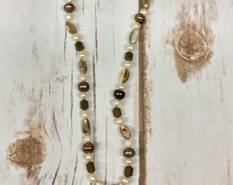 Handmade Stone Bead and Twisted Necklace