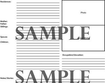 Genealogy Fact Sheet