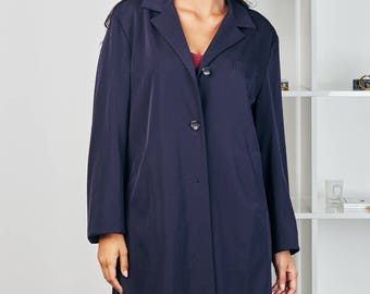 Jil Sander dark blue coat UK size 8-10