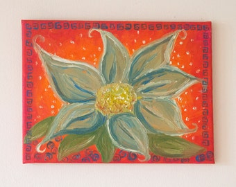 Oriental Flower Oil Painting
