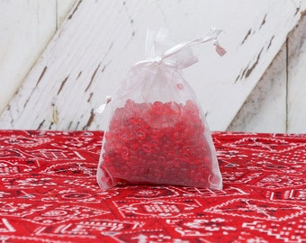 Cactus Berries Fragrance Scented Aroma Bead Sachet Bags Air Freshener Red Rustic Charm