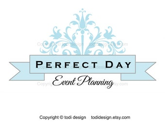 Premade Logo design- Perfect Day Event and wedding planner, Photography