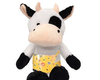 Yellow Bugs Cow with Boston Scoliosis Brace
