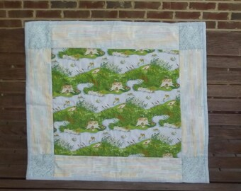 Frog Pond Patchwork Baby Quilt
