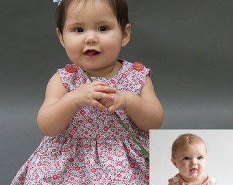 Raleigh Romper and Dress PDF Sewing Pattern (Girls) NB-3T