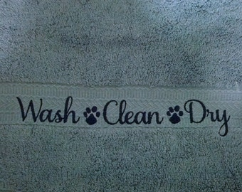Pet Towels - Hand Towels - Wash - Clean - Dry - Two Hand Towels - Many Colors