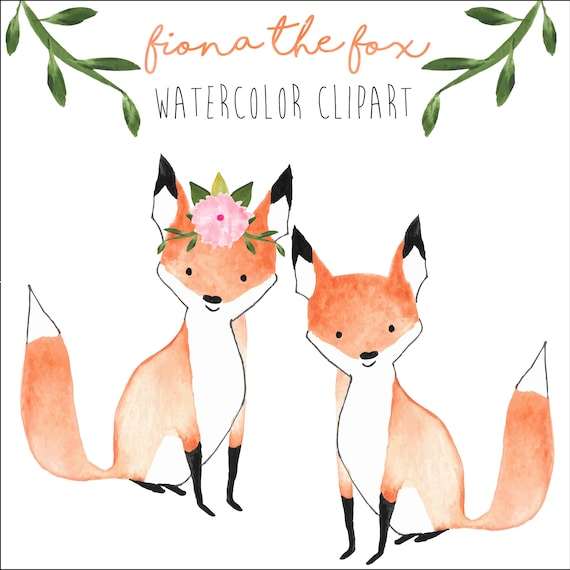 fox clipart forest clipart wedding clipart watercolor baby rh etsy com fox clipart images fox clip art for kids