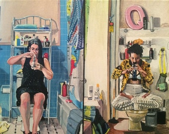 Broad City: Abbi and Ilana 12x16 prints from the original oil painting