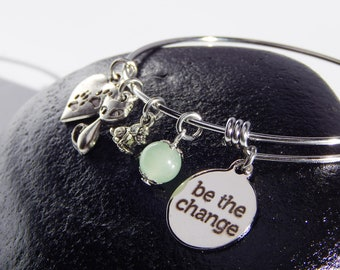 Dog Cat Charm Adjustable Bangle Bracelet Rescue Dog or Cat Perfect Gift For an Animal Lover Animal Advocate