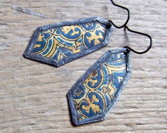Recycled  tin earrings     *18