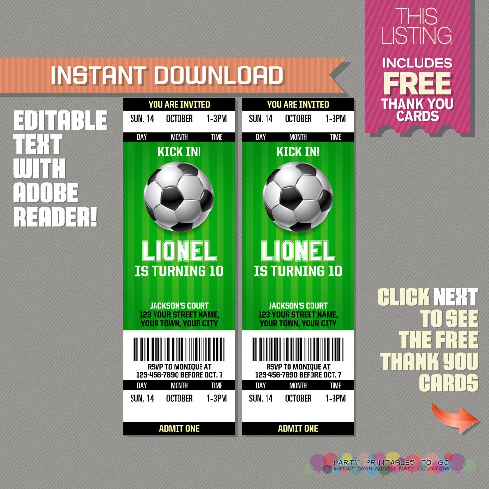 Cute Soccer Invitation Template Gallery - Example Resume Ideas ...
