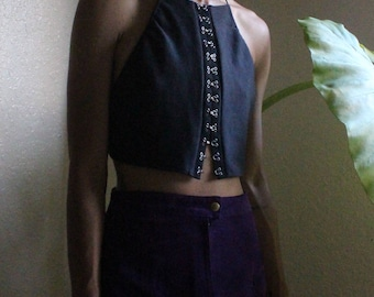 Hook and eye Halter Top