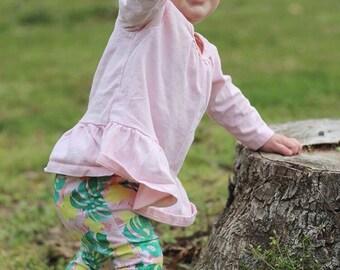 Baby Leggings | Baby Girl Leggings | Gender Neutral Baby Clothes | Baby Pants | Baby Girl Clothes | Monstera | Palm Springs, Floral Leggings