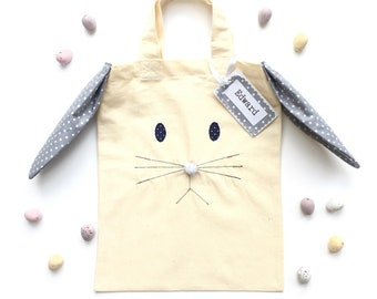 Easter gift ideas etsy personalised easter bunny bags negle Images