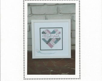 "Clearance - ""My Friend Heart"" Counted Cross Stitch Chart by Sekas & Co."